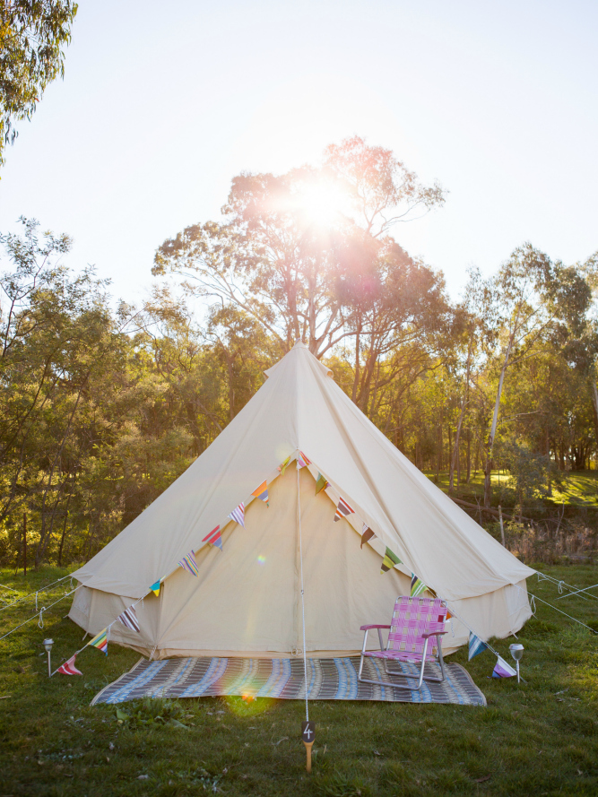 Bell Tents via Happy Glamper.