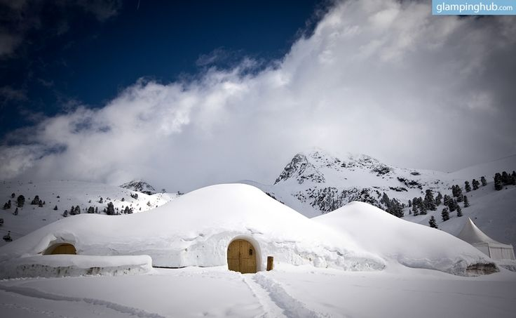 Igloo accommodation in Austria.