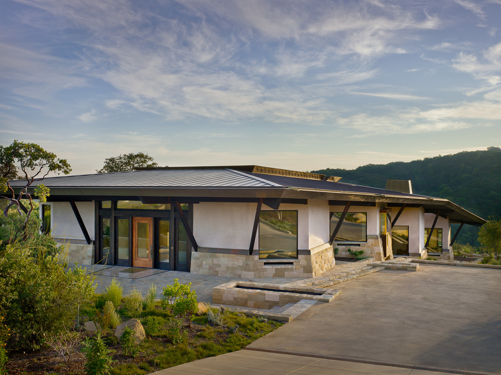 Health, ecology, value and innovation are the design principles behind this Northern California home designed to meet the Living Building Challenge. The design was a collaboration with W. David Winitzky, AIA.         © Prakash Patel Photography