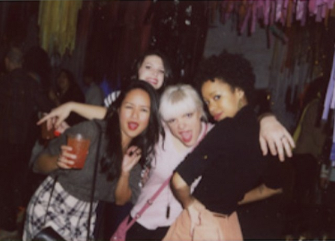 All the smiles, all the sass, and all the blurry at a recent roller skate party. Just another Tuesday night.
