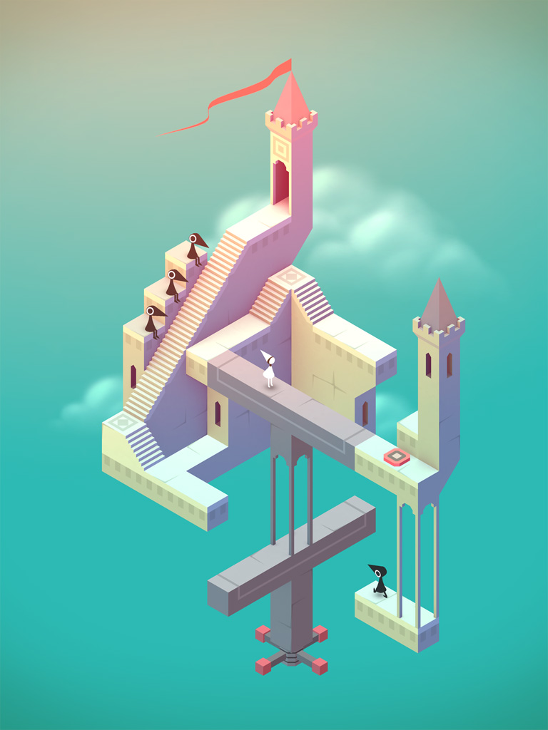 TO KEEP THEM INTRIGUED: A visually stunning puzzle game for iOS and Android called Monument Valley. Each level is a work of art. (Yumm. Escher.) And there are new chapters you can purchase to help fight against AIDS for (RED).
