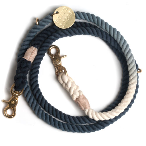 TO KEEP THEM CLOSE: A hand-dyed ombre rope leash for your adopted pup from Found My Animal. Proceeds go towards animal welfare and animal rescues, so you'll be keeping your best friend close and helping other furry pals find their forever homes.