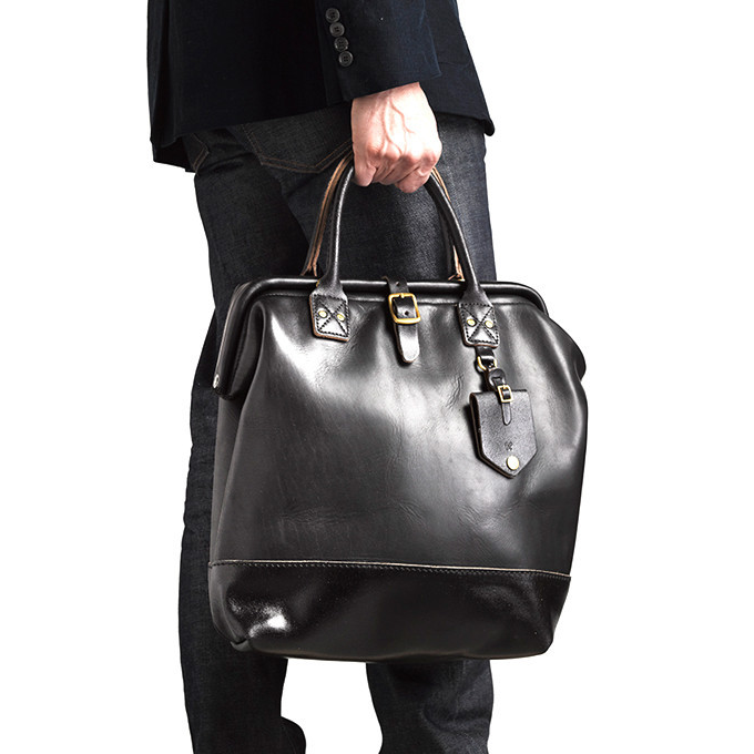 TO KEEP THEM ON-THE-GO: A waxed leather bag from Billykirk that's proven to handle the gritty city commute with style, come frozen hell or high water. (Adette's pebbled leather number is a favorite for any season.)