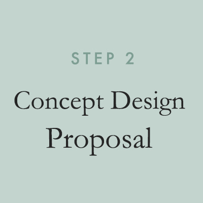 We create a comprehensive proposal outlining overall design concepts, including detailed mood boards and sketches, tailored to your needs.