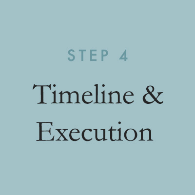 From there, TINSEL will provide a detailed timeline of deliverables to make sure all décor and coordination elements are executed on schedule.