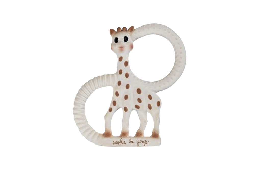 TOY - all-natural rubber. teething toy. can be dropped in the sand. easy to wipe clean.