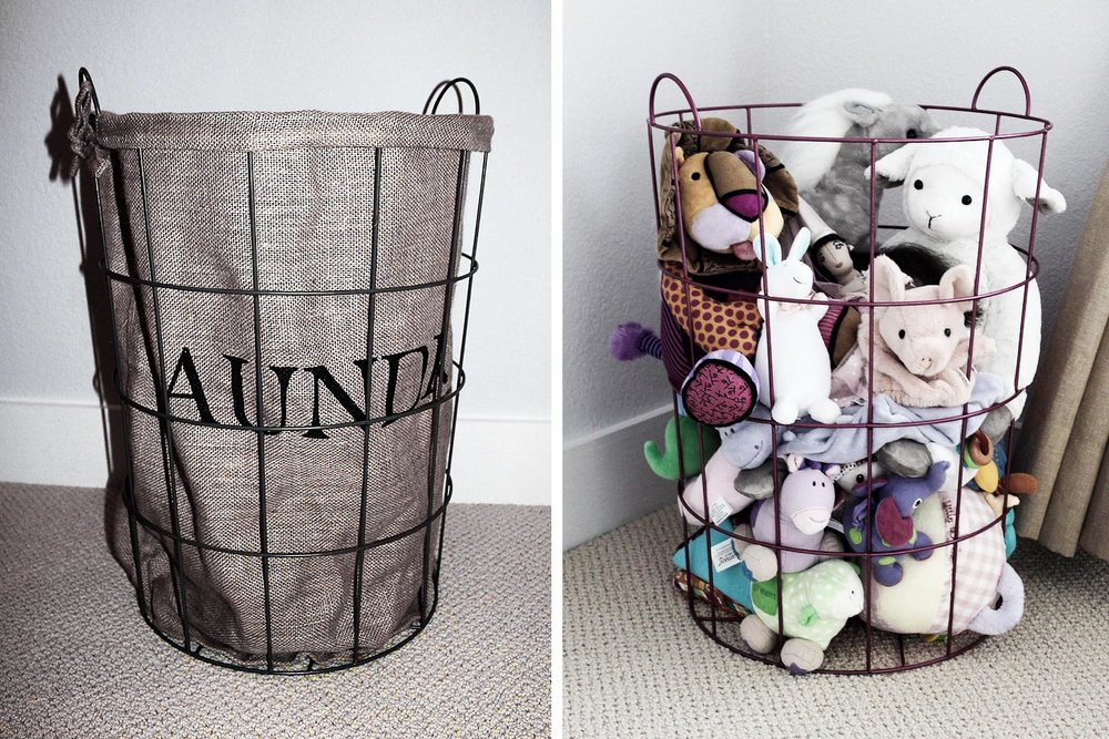 TOY STORAGE -   Basket or Bin + Spray Paint
