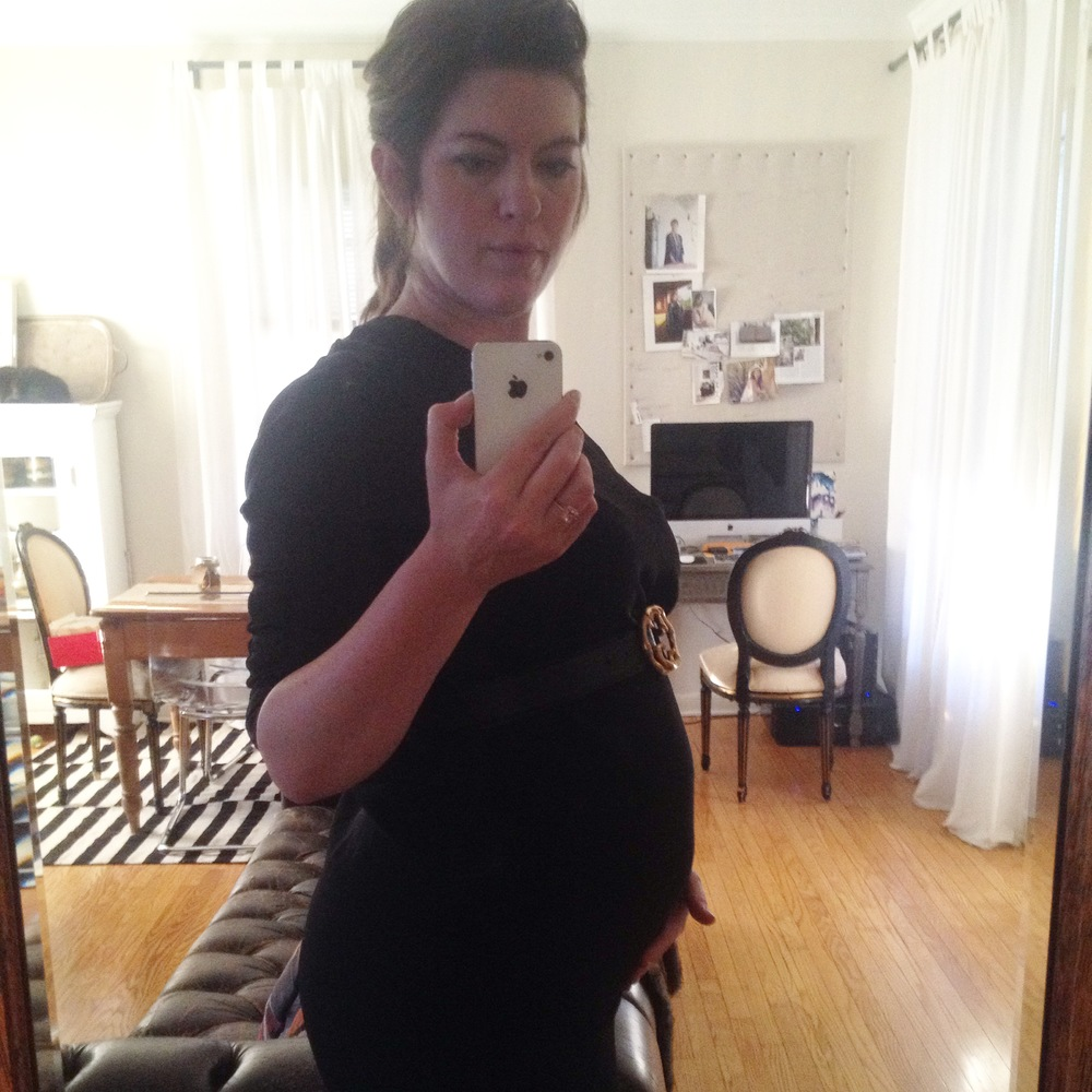 Pregnant selfie at 18 weeks