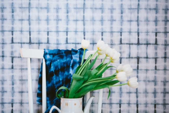 Shibori Wallpaper by Pepa Martin and Karen Davis
