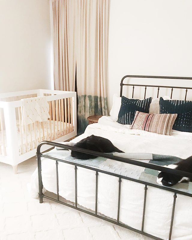 We finally have a proper guest room, complete with bed + crib for tiny guests (our little guy refuses to sleep here). So, come to LA and see us! *cats included in stay