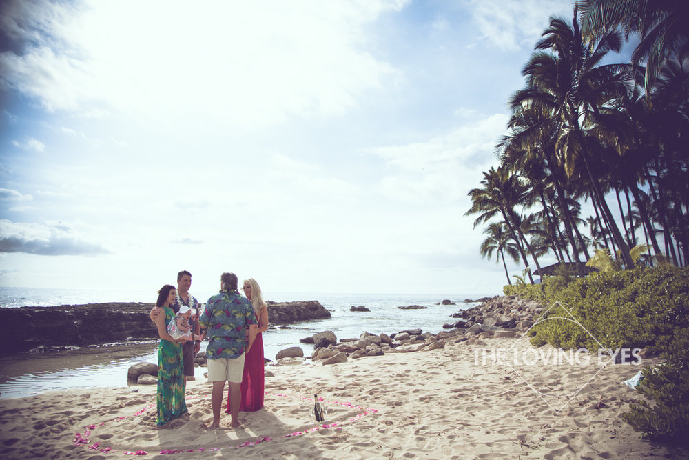 Beautiful beach for vow renewal ceremony at Ko Olina Four Seasons Lagoon