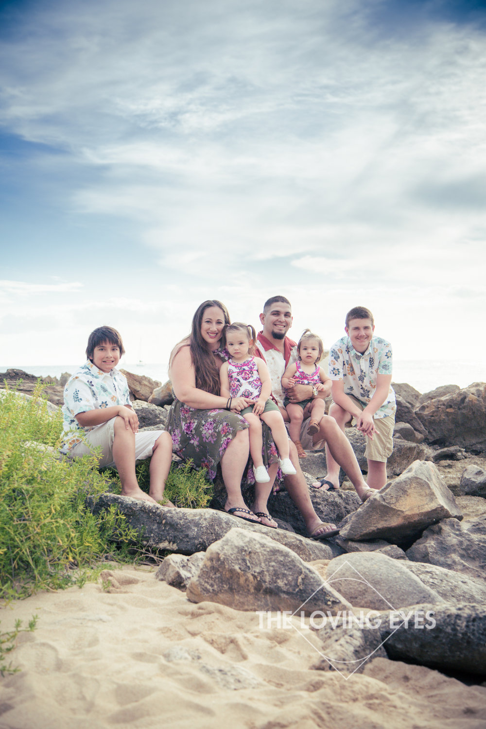 Family vacation photography on the beach at Ko Olina Four Seasons Lagoon