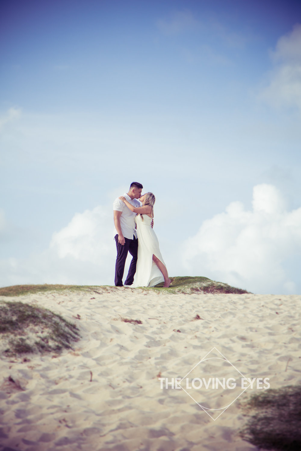 Hawaii engagement photography on Kailua Beach