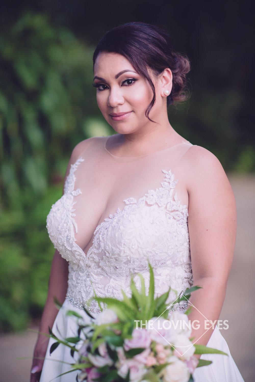 Bridal portrait on wedding day at Hilton Hawaiian Village Rainbow Suite in Waikiki