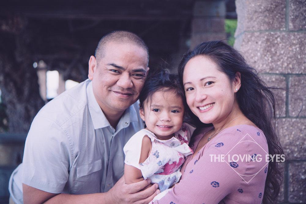 Family portrait on vacation in Waikiki in Hawaii