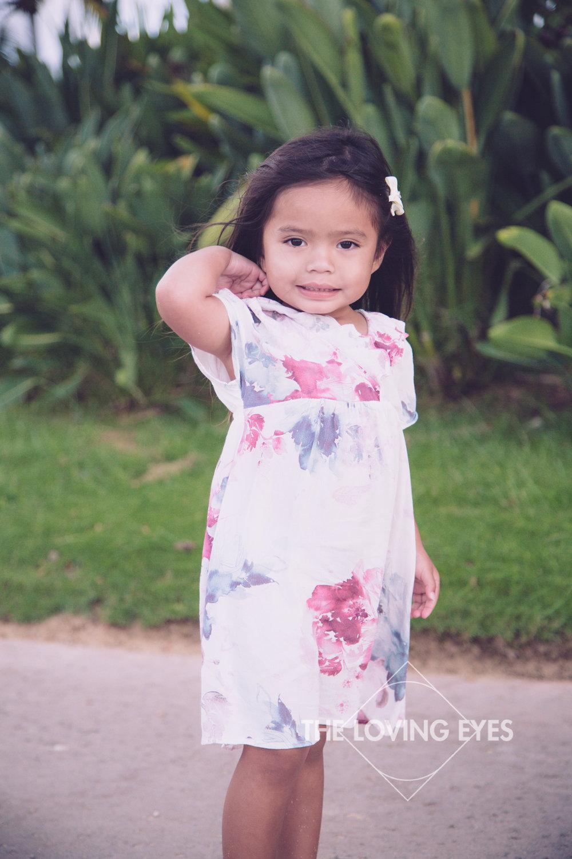 Child portrait in Waikiki in Hawaii