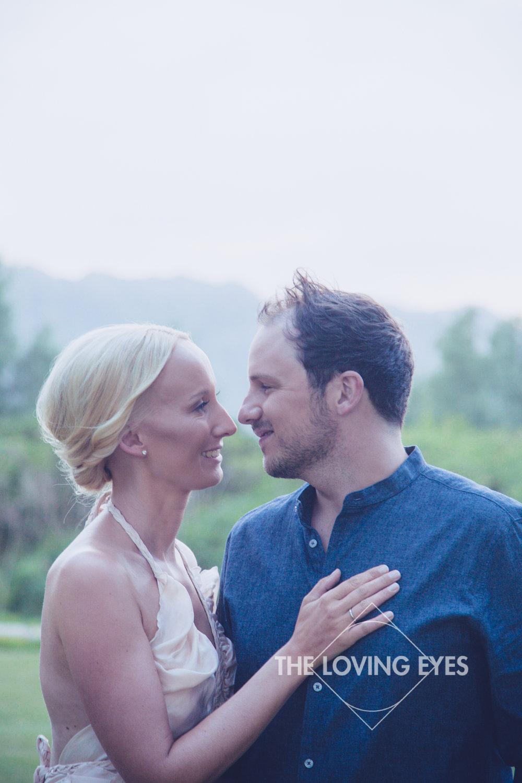 Romantic elopement in Waimanalo Hawaii