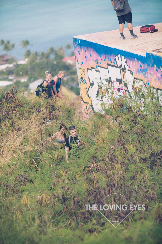 Hiking Lanikai Pillbox in Hawaii