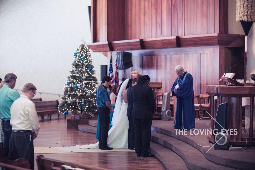 Hawaiian wedding ceremony at Bishop Memorial Chapel