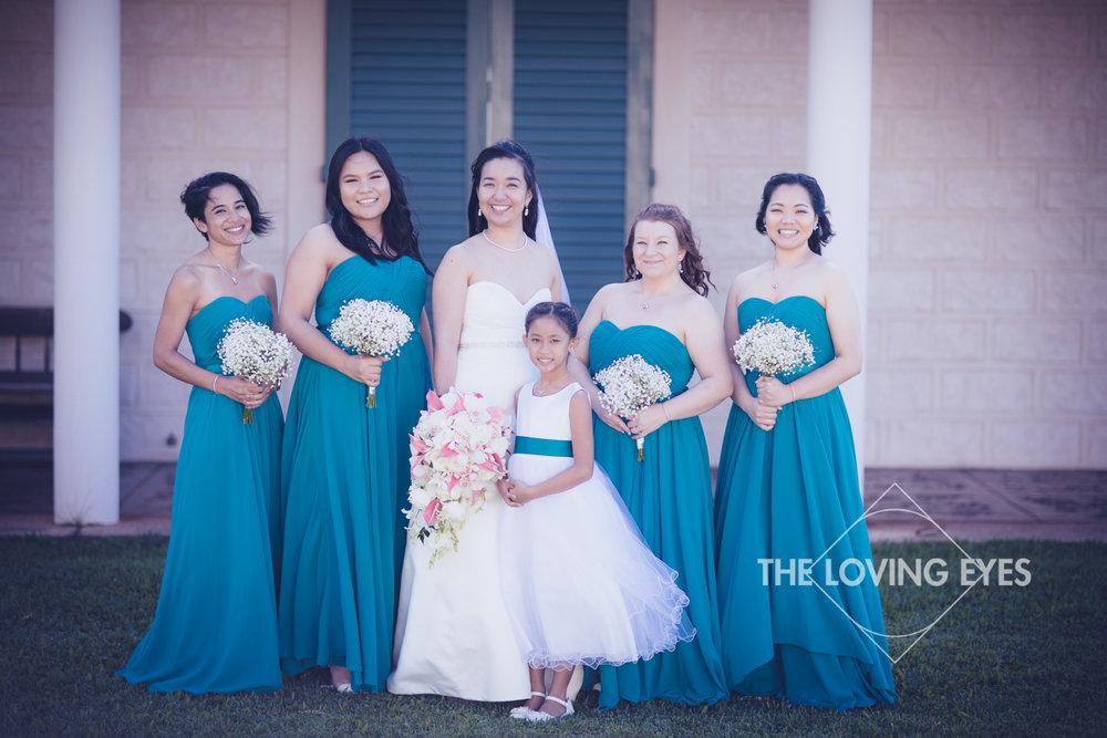 Bridal party portrait at Bishop Memorial Chapel