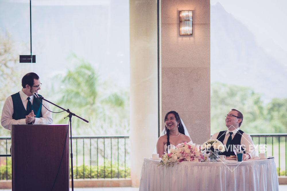 Wedding reception at Koolau Ballroom in Hawaii