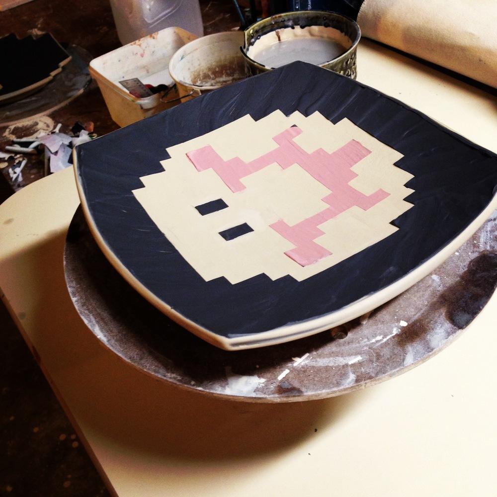 8 Bit mushroom platter