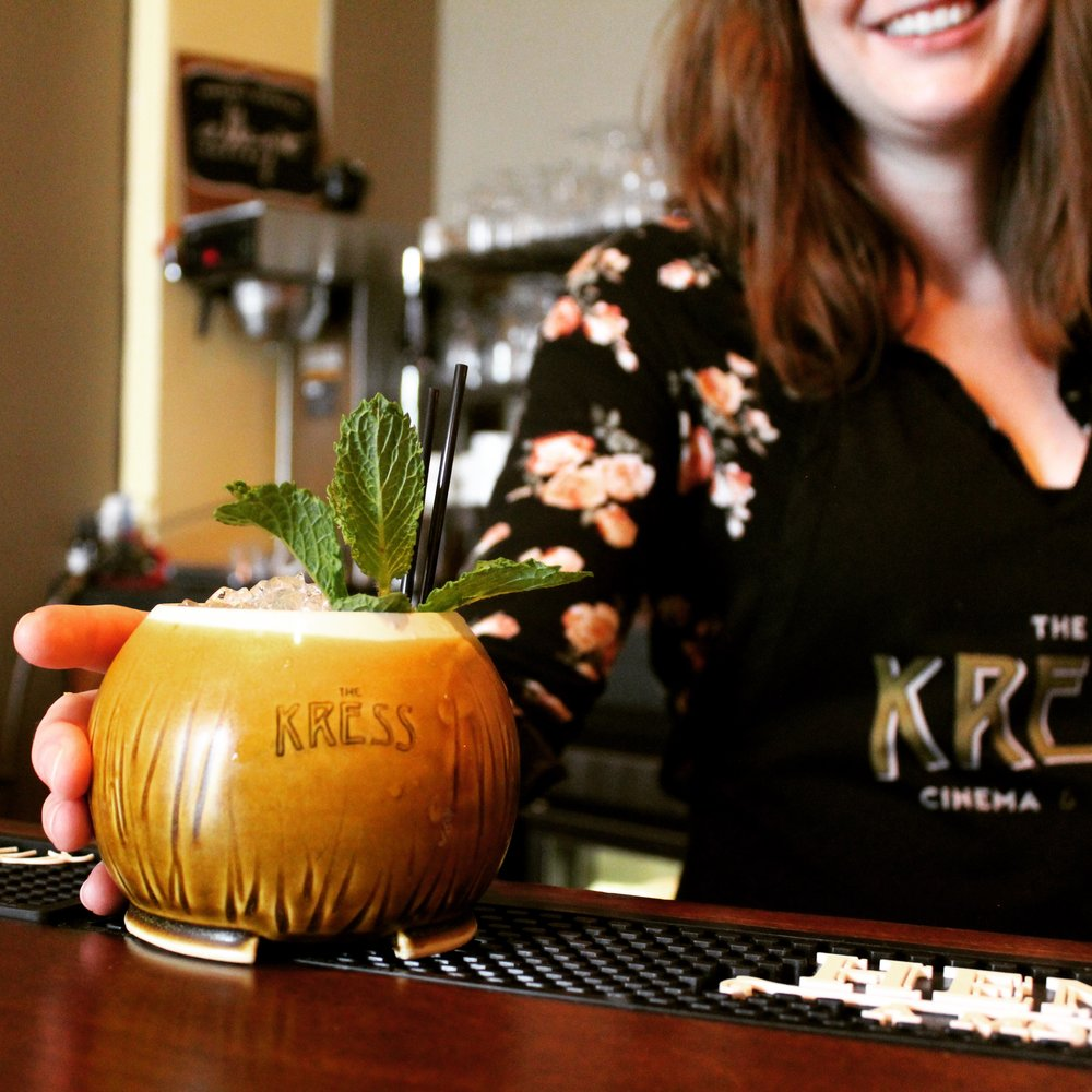 Come to Downtown Greeley and enjoy a Piña Colada in one of my Custom Made Coconut Cups at the Kress Cinema & Lounge!