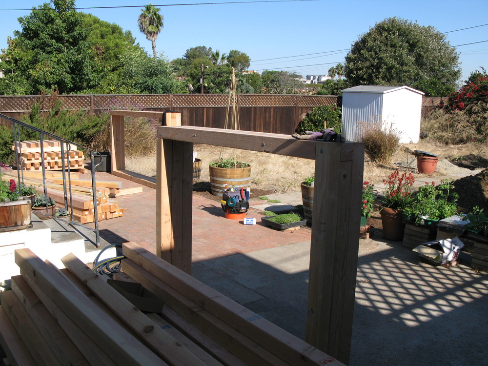 Construction of the raised beds