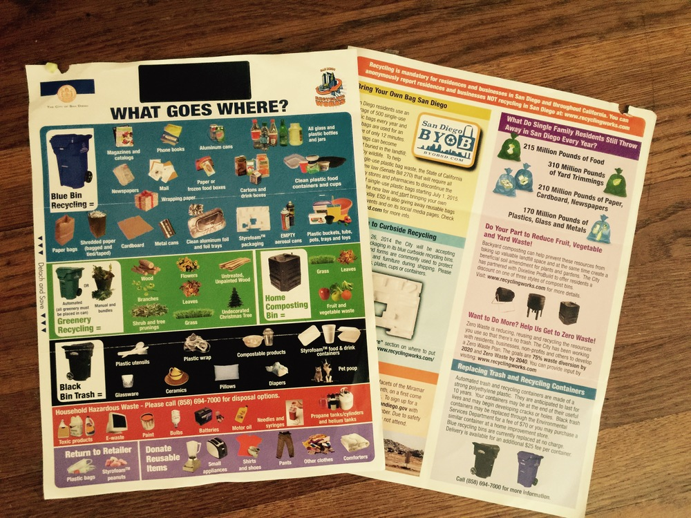 We can do better! City of San Diego's 2015 mailer to residents.