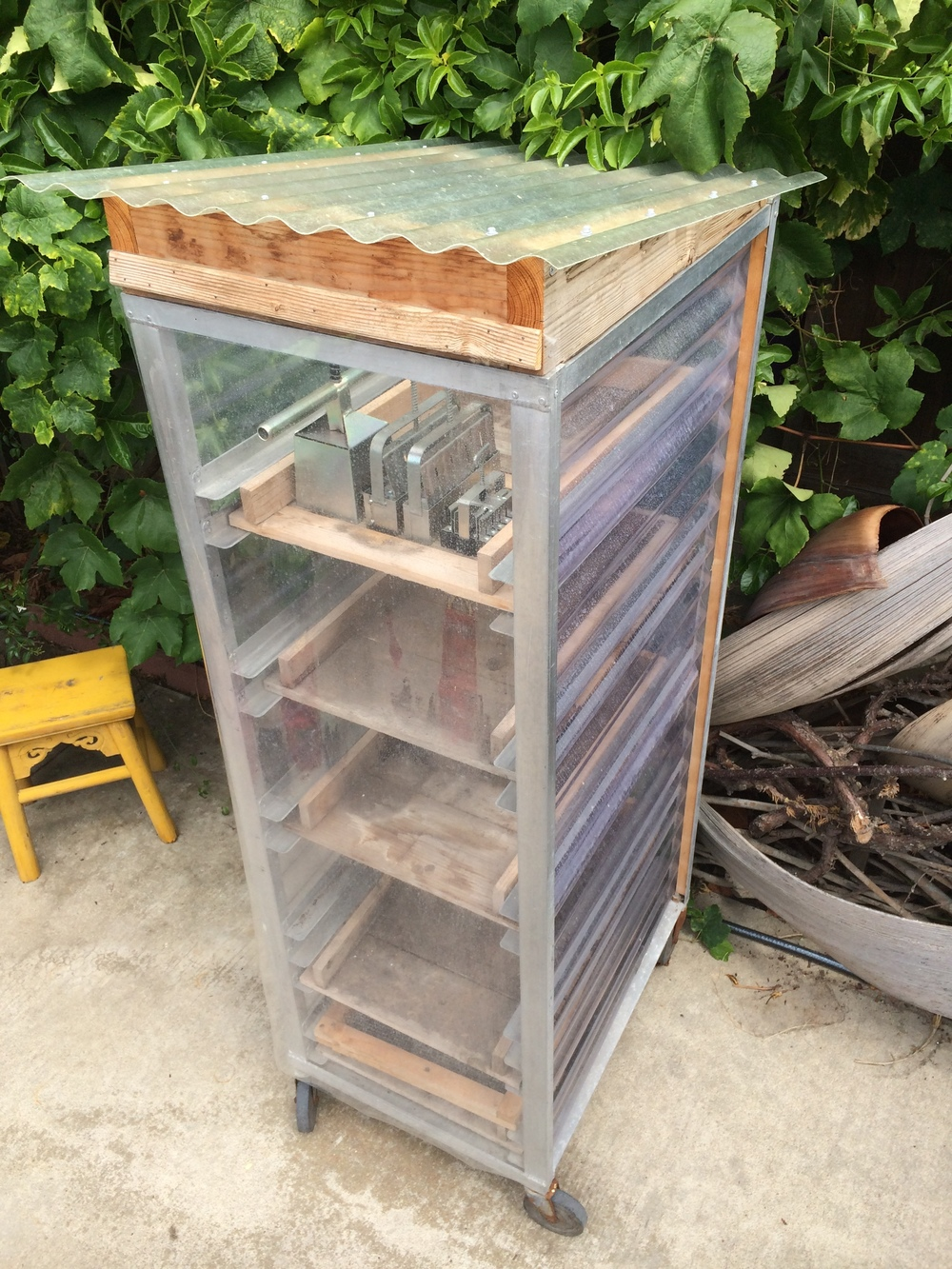 Build Small Greenhouse This Converted Baker 39 S Cart Holds Hundreds Of Soil Blocks And It Can
