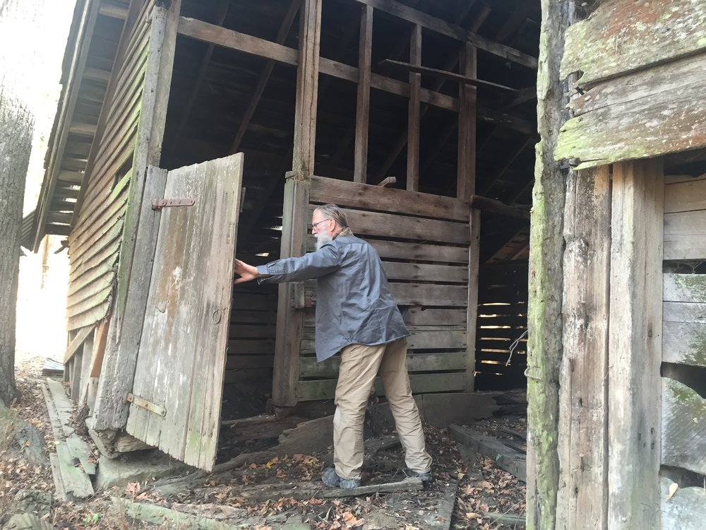 Dale checking out his old barn.