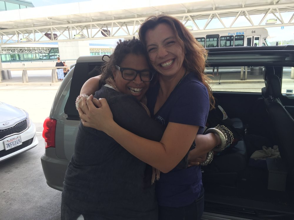 After helping us pack and load the moving truck in San Diego, Desiree helped another friend in Hawaii move. And because she's so awesome she came out to Tennessee to help us unpack! Desiree arrived in Nashville the day that we closed!