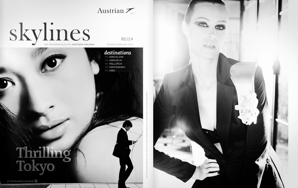 MELANIE SCHERIAU FOR AUSTRIAN AIRLINES MAGAZINE   ISSUE JAN 2014.