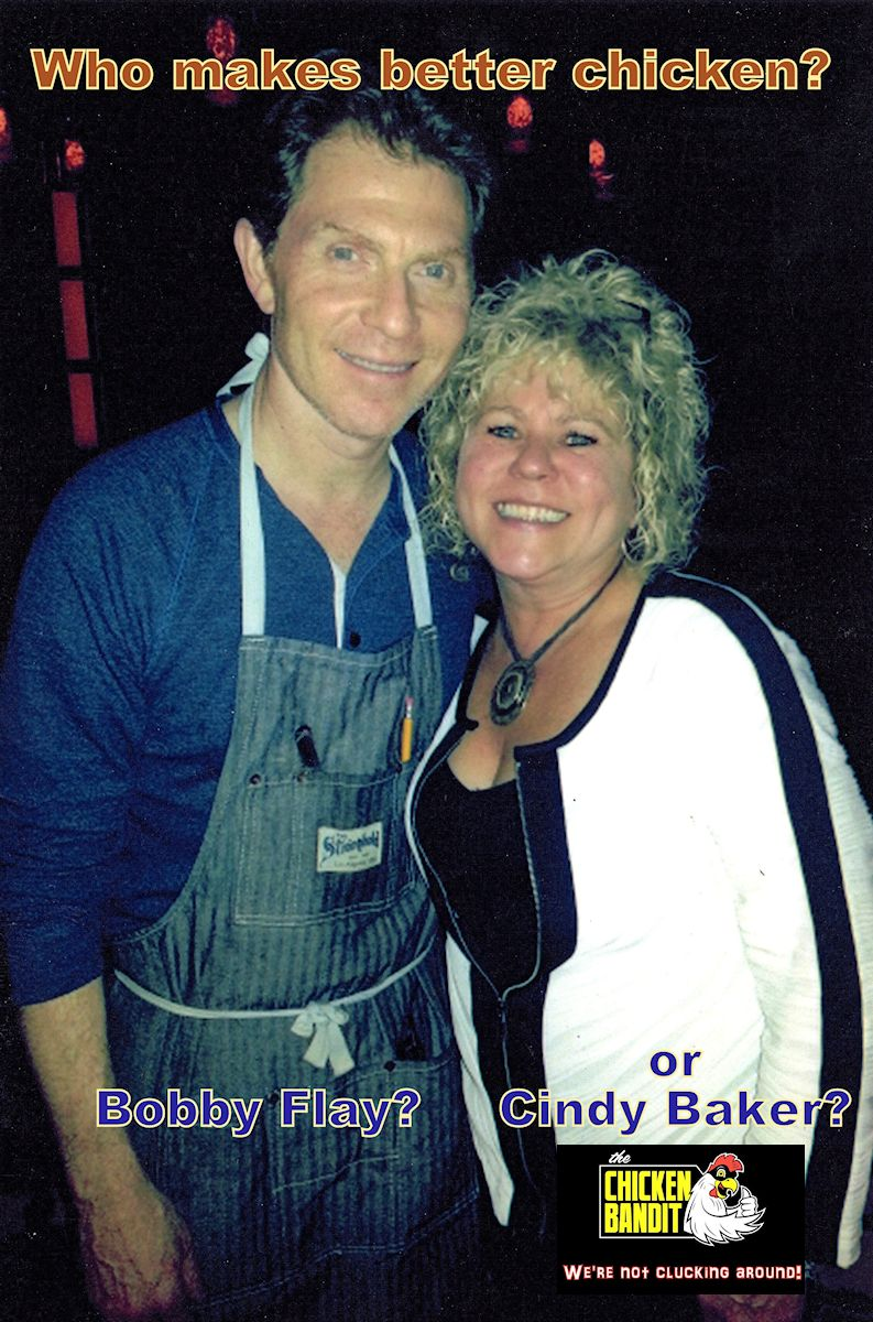"You will have to decide! Go to Bobby Flay's ""Gato"" Restaurant in lower Manhattan to try his. We've been there and it's a great place to eat!   That's where this photo was taken . Bobby was working the kitchen that night. Then come to the Chicken Bandit Food Truck and try our famous ""Bandit Seasoned"" Chicken."