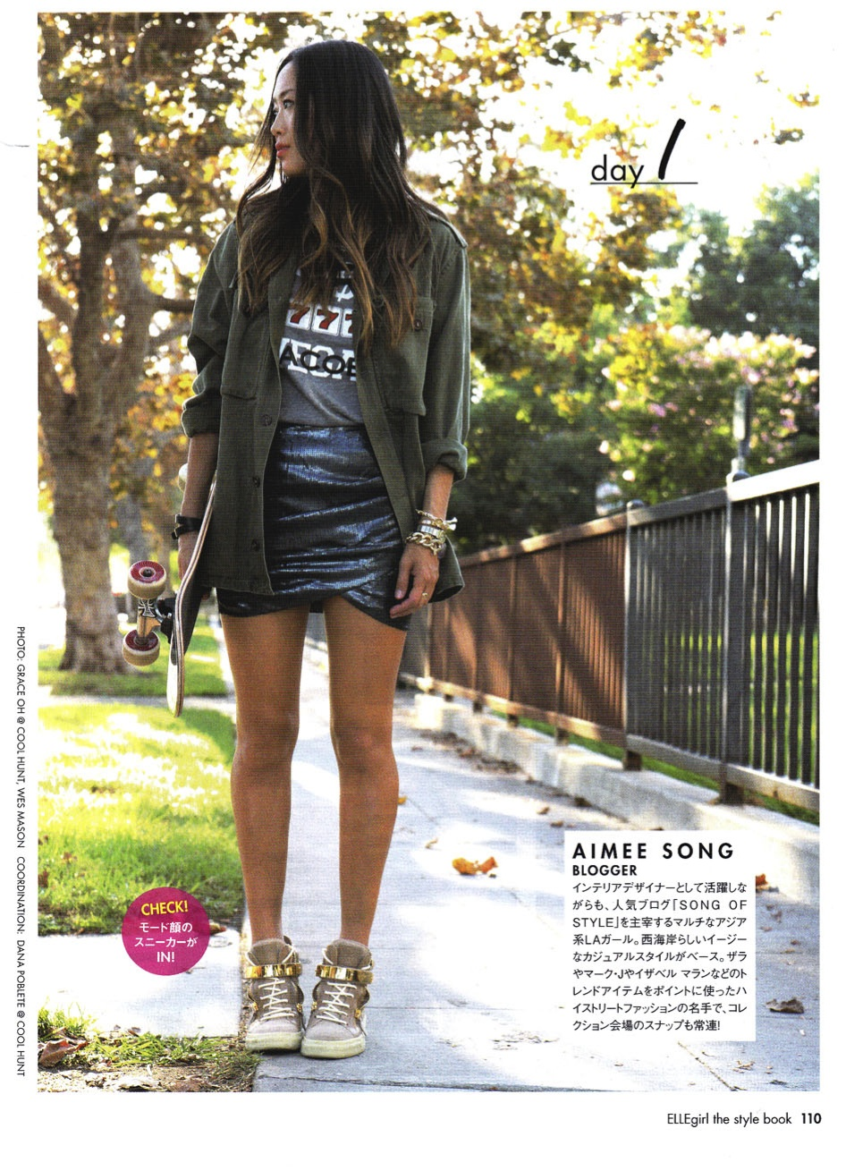AIMEE SONG 7 DAYS OF STYLE ELLEGIRL JAPAN