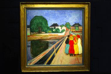 """Målare som Sigrid Hjertén, PS Krøyer och Edvard Munch led av mental ohälsa, men lyckades ändå åstadkomma unik konst, skriver undertecknarna. Bilden visar Munchs """"Flickorna på bron"""".FOTO: MATT DUNHAM/AP"""