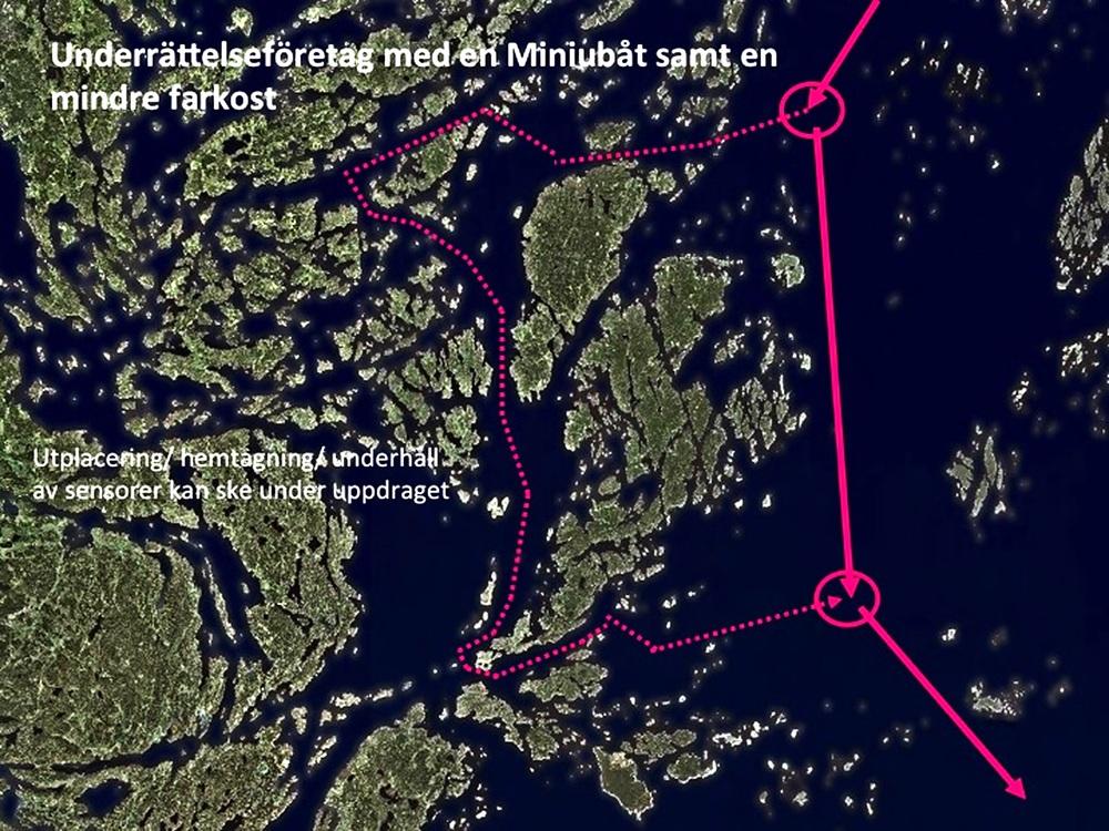 Operationsprofil 2: Underrättelseföretag med en miniubåt samt en mindre farkost