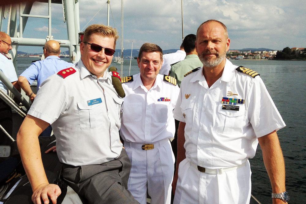 Försvarsattachéresa till marinbasen i Ferrol, Spanien. Tillsammans med min finske och brittiske kollega.