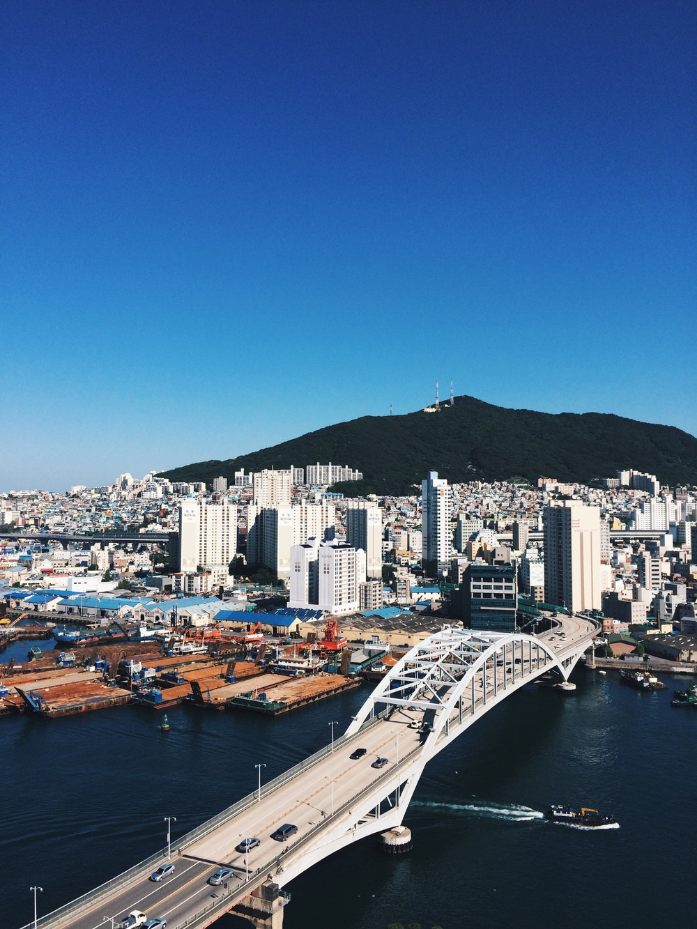 City view of Busan - sea, bridges, hills and more...