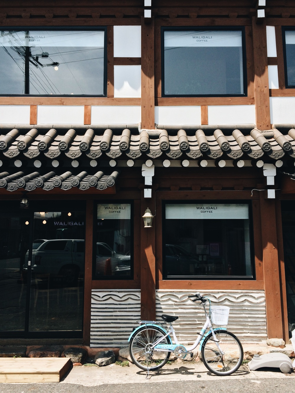 Biking in the old city, Gyeongju