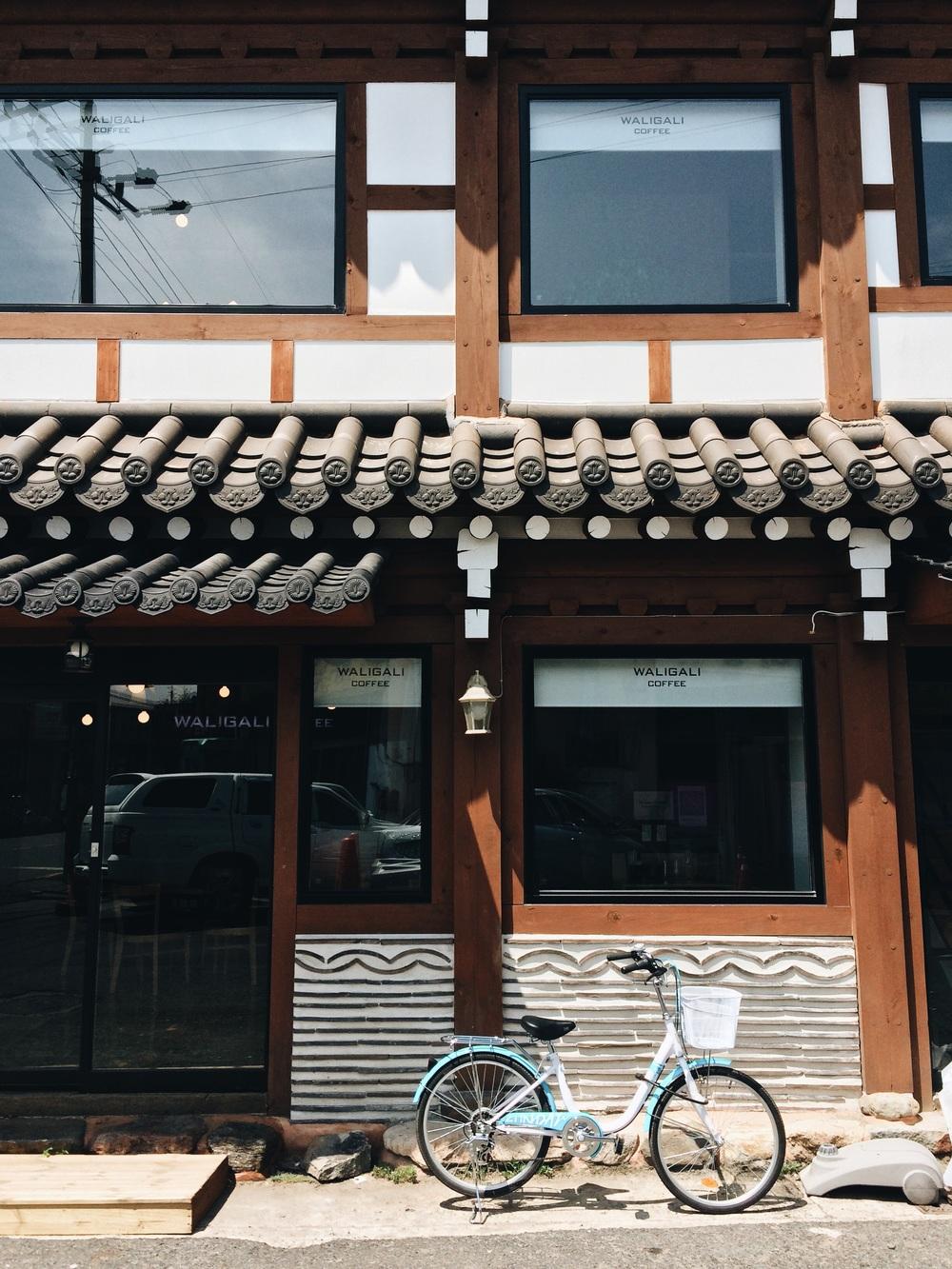 Biking in the old city, Gyeongju