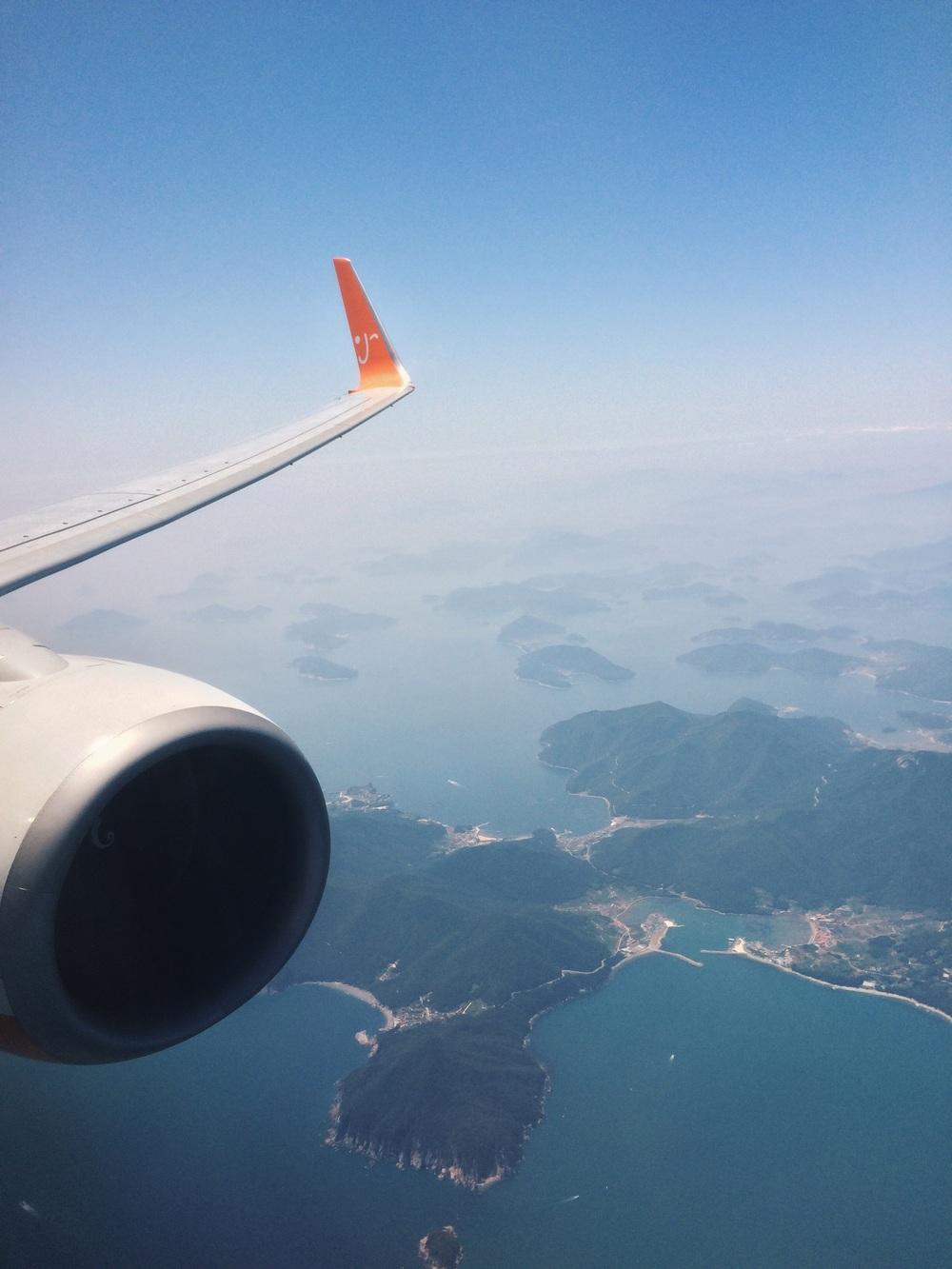Domestic flight from Jeju to Busan by Jeju Air