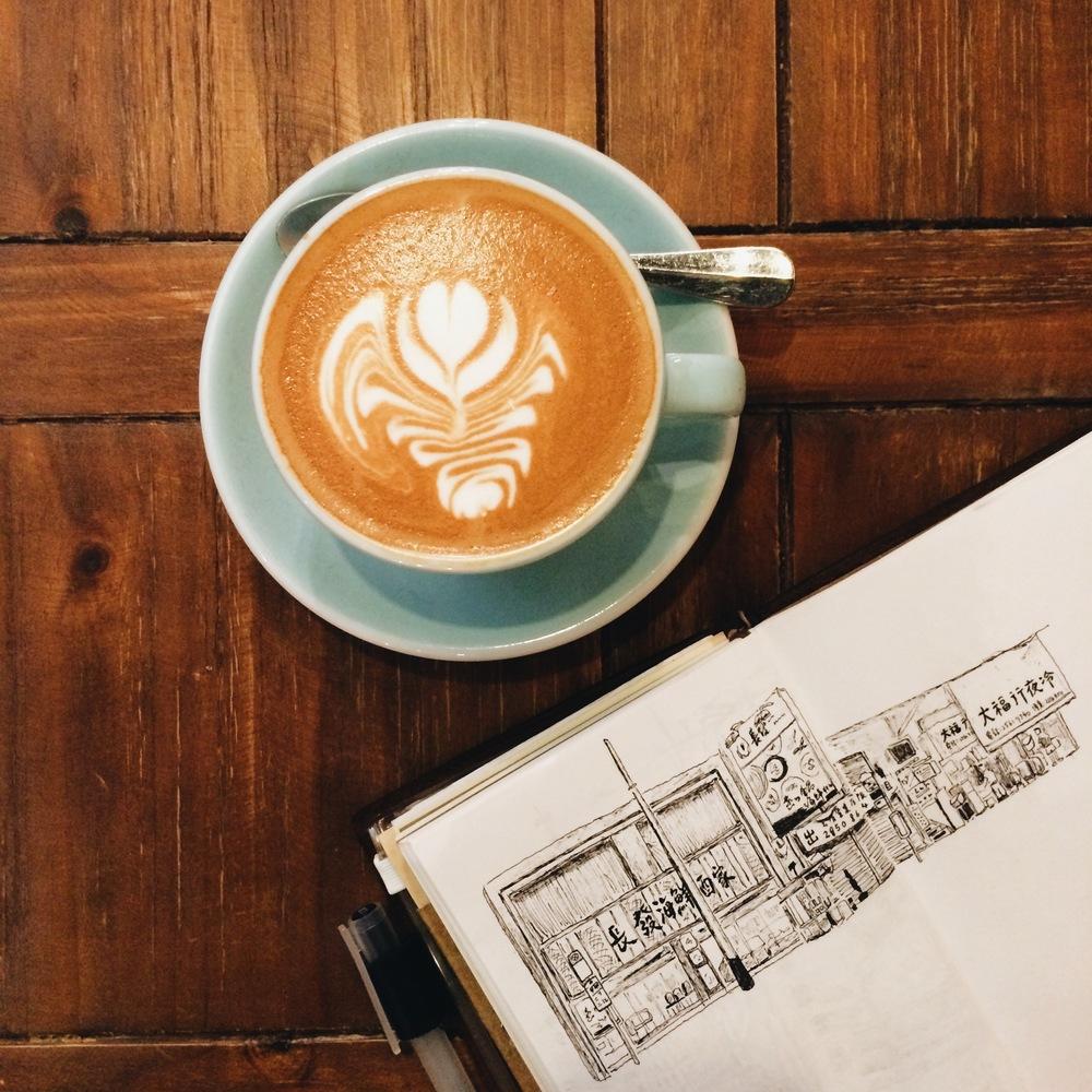 Urban sketching on Traveler's Notebook