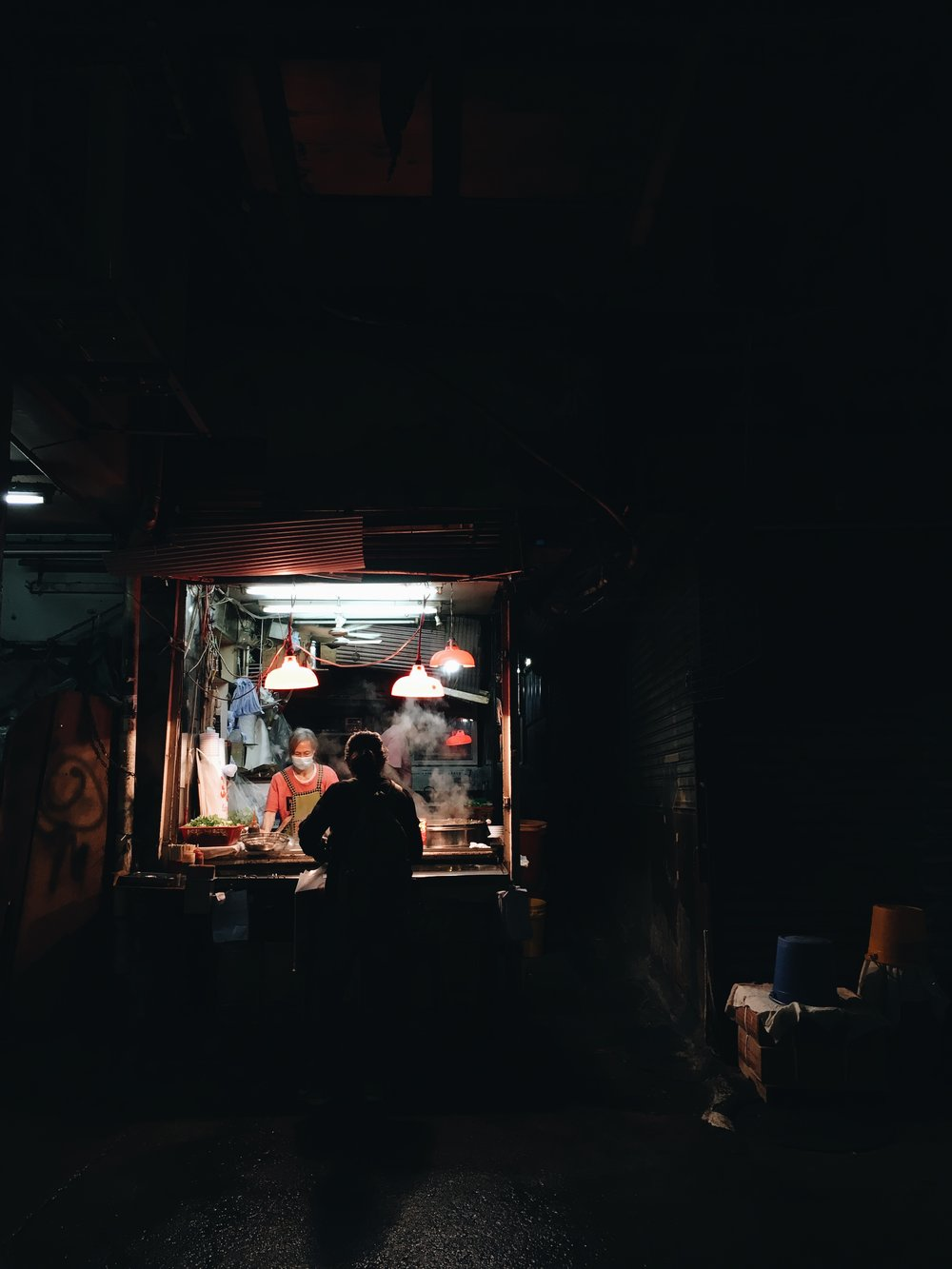 平安夜的香港,2016。