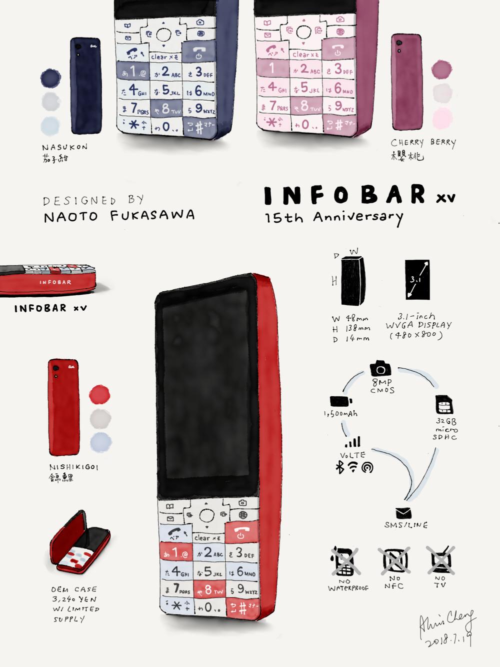 深澤直人設計的手機:Infobar XV