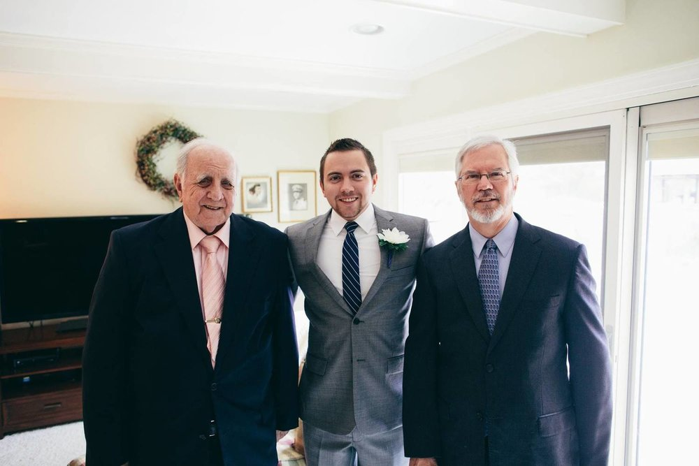 My grandfather William Smith Sr. (left), my brother Daniel Smith (center), and my father William Smith Jr. (right) in Virginia Beach, Virginia, November 2013 at Daniel's wedding.