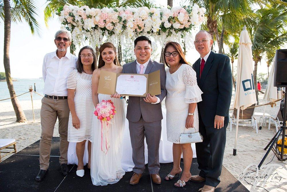 Beach Wedding at Ola Beach Club, Sentosa Beach