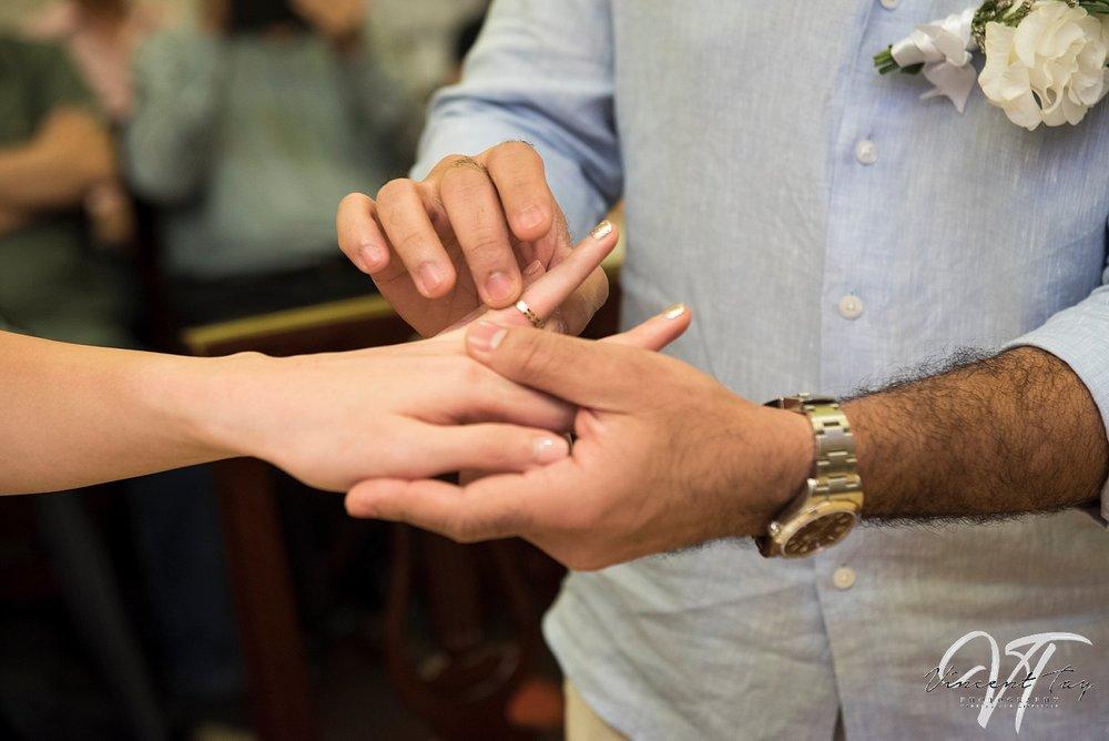 registry of marriage, ring exchange