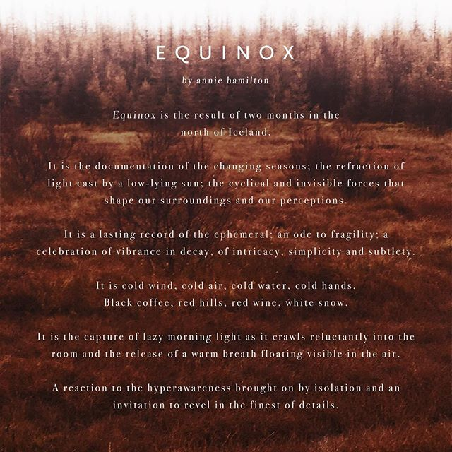 my new collection ~ EQUINOX ~ will be available next week! 🍂