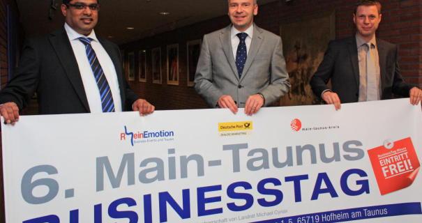 RheinEmotion und Förderer des 6. Main-Taunus Business Tag 2015